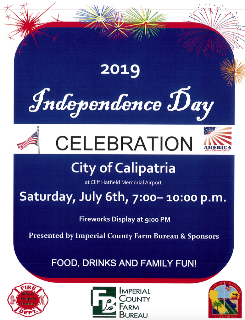 2019 City of Calipatria Independence Day Flyer